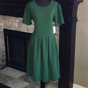 Forrest Green Lularoe Amelia Dress